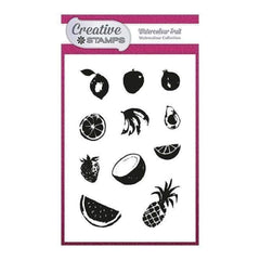 Creative Stamps A6 Stamp Set - Watercolour Fruit - Set of 11