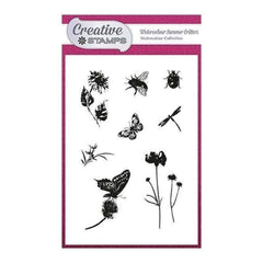 Creative Stamps A6 Stamp Set - Watercolour Summer Critters - Set of 9