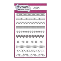 Creative Stamps Cross Stitch Collection - Borders A6 Stamp Set