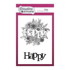 Creative Stamps Focal A6 Stamp - Happy