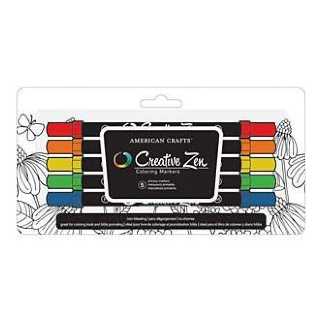 Creative Zen Adult Colouring Markers 5 Pack Primary