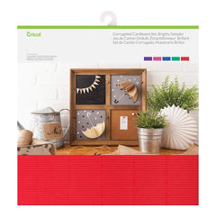 Cricut Corrugated Cardboard 12 inch X12 inch Set 20 Sheets Brights