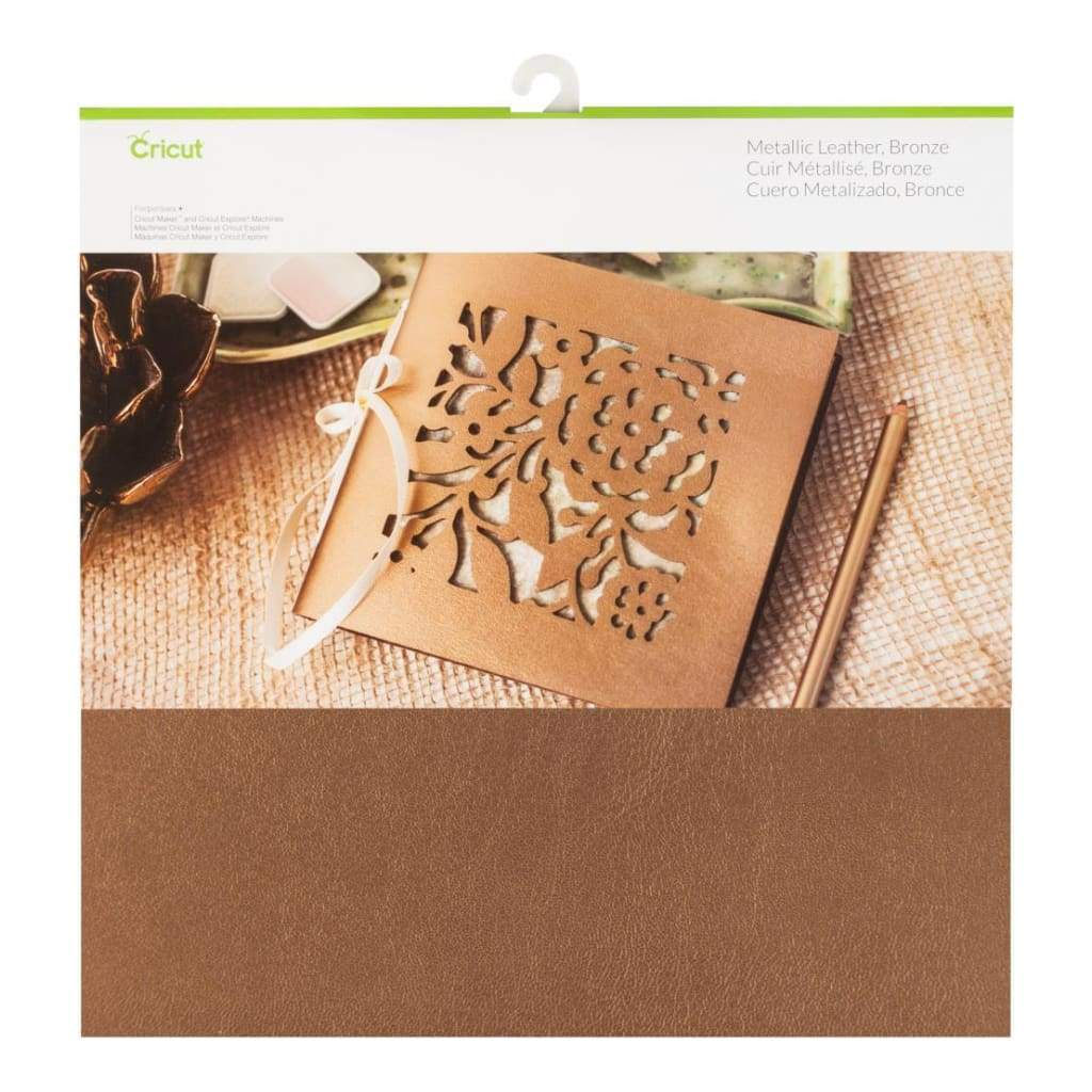 Cricut Soft Metallic Leather 12 inch X12 inch Bronze