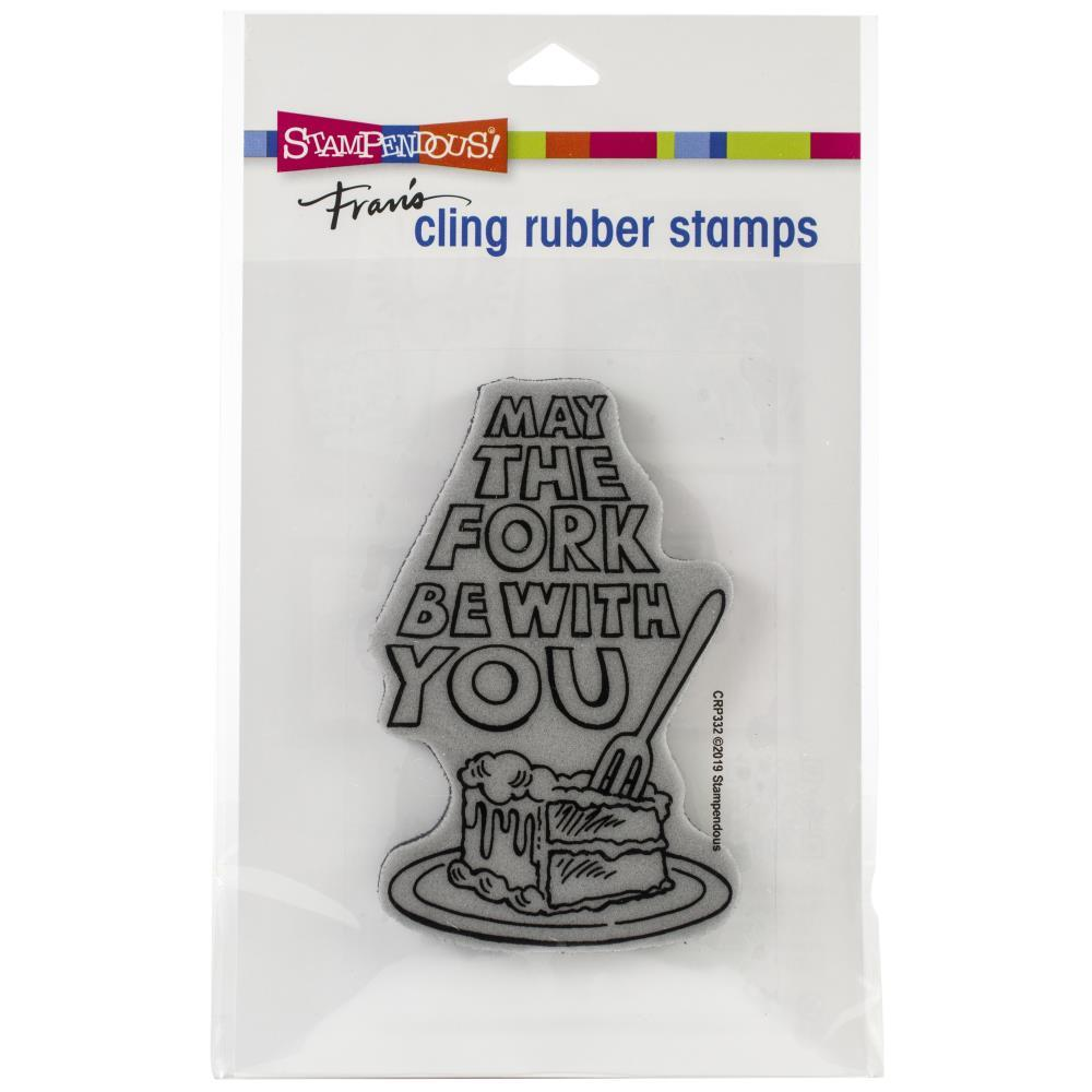 Stampendous Cling Stamp May The Fork