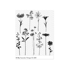 My Favorite Things - Clear Stamps - Flower Silhouettes