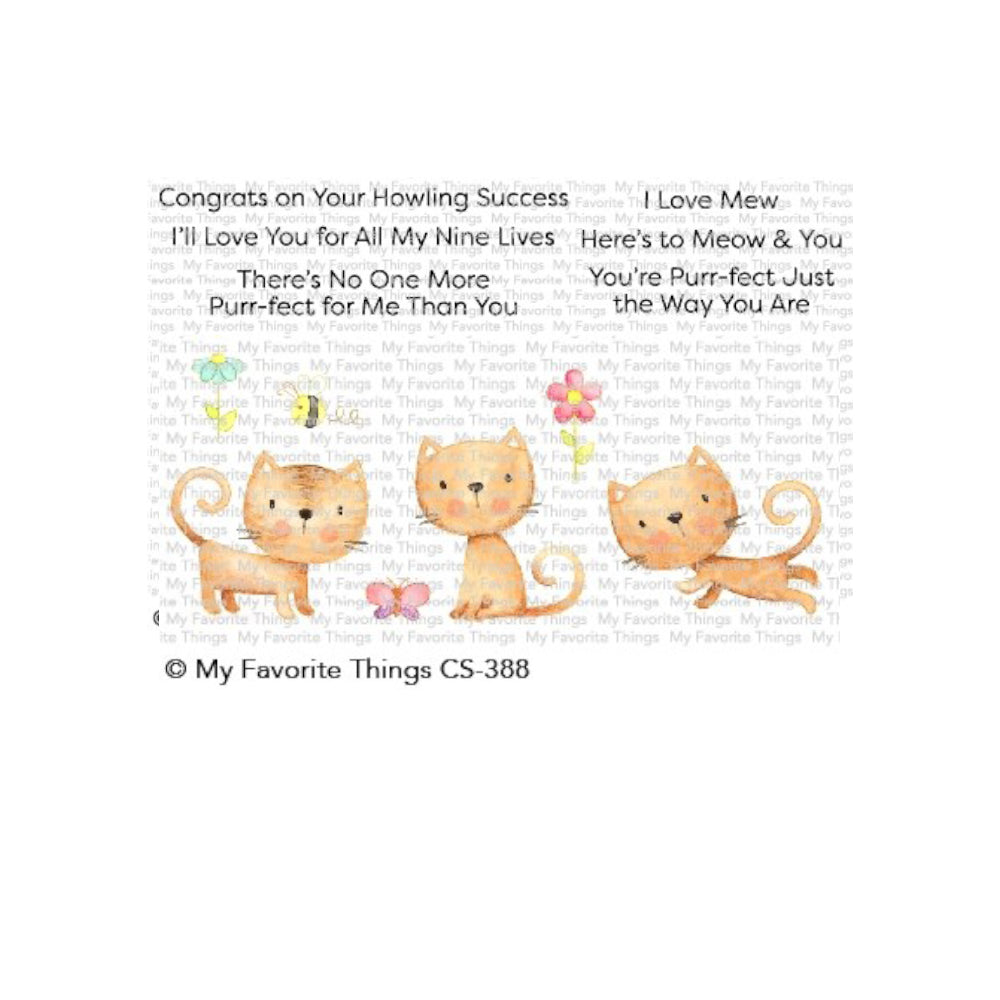 My Favorite Things - Clear Stamps - Purr-fect