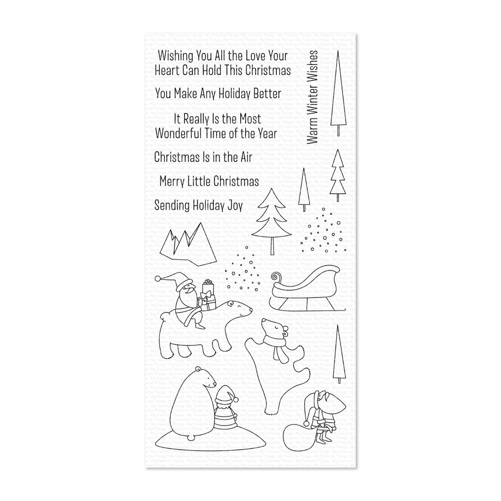 My Favorite Things Clear Stamp Set 4 inch x 8 inch - Merry Moments