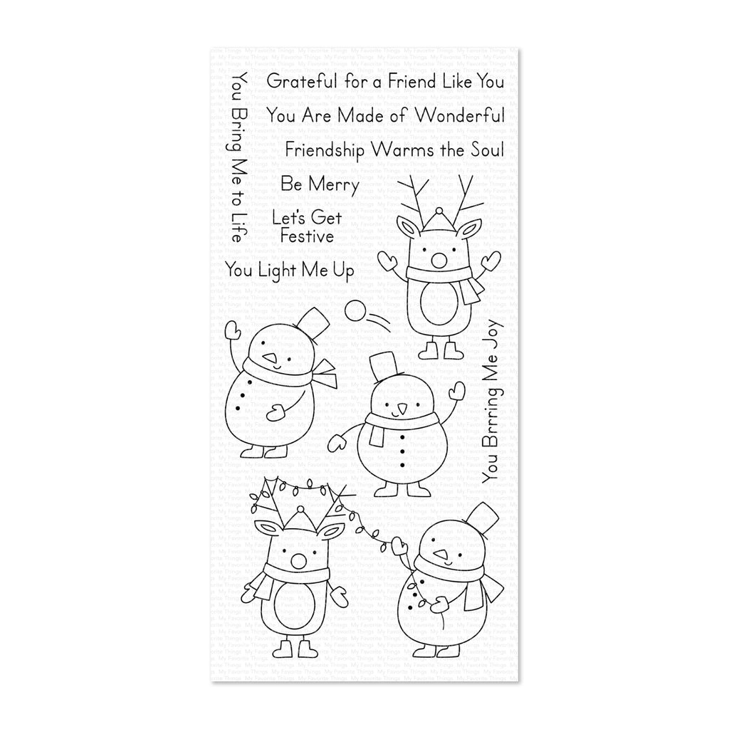 My Favorite Things Clear Stamp Set 4 inch x 8 inch - Festive Friends