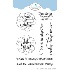 Elizabeth Crafts Clear Stamps 4in x 6in - Let Your Heart Be Light
