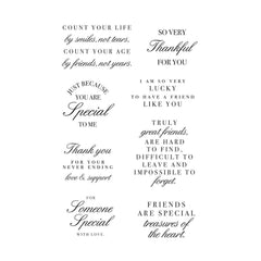 Kaisercraft Clear Stamps - Friendship Sentiments 6 x 4in