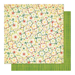 "Cosmo Cricket - Garden Variety Collections - Double-Sided Paper 12""X12"" - Bloomers"