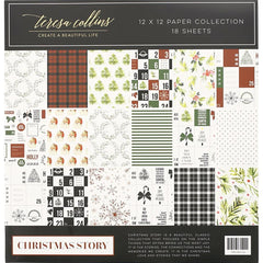 Teresa Collins Paper Collection 12in x 12in 18 pack - Christmas Story