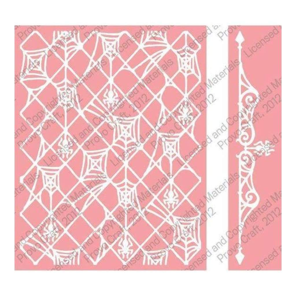 Cuttlebug A2 Embossing Folder/Border Set - Spider Stew