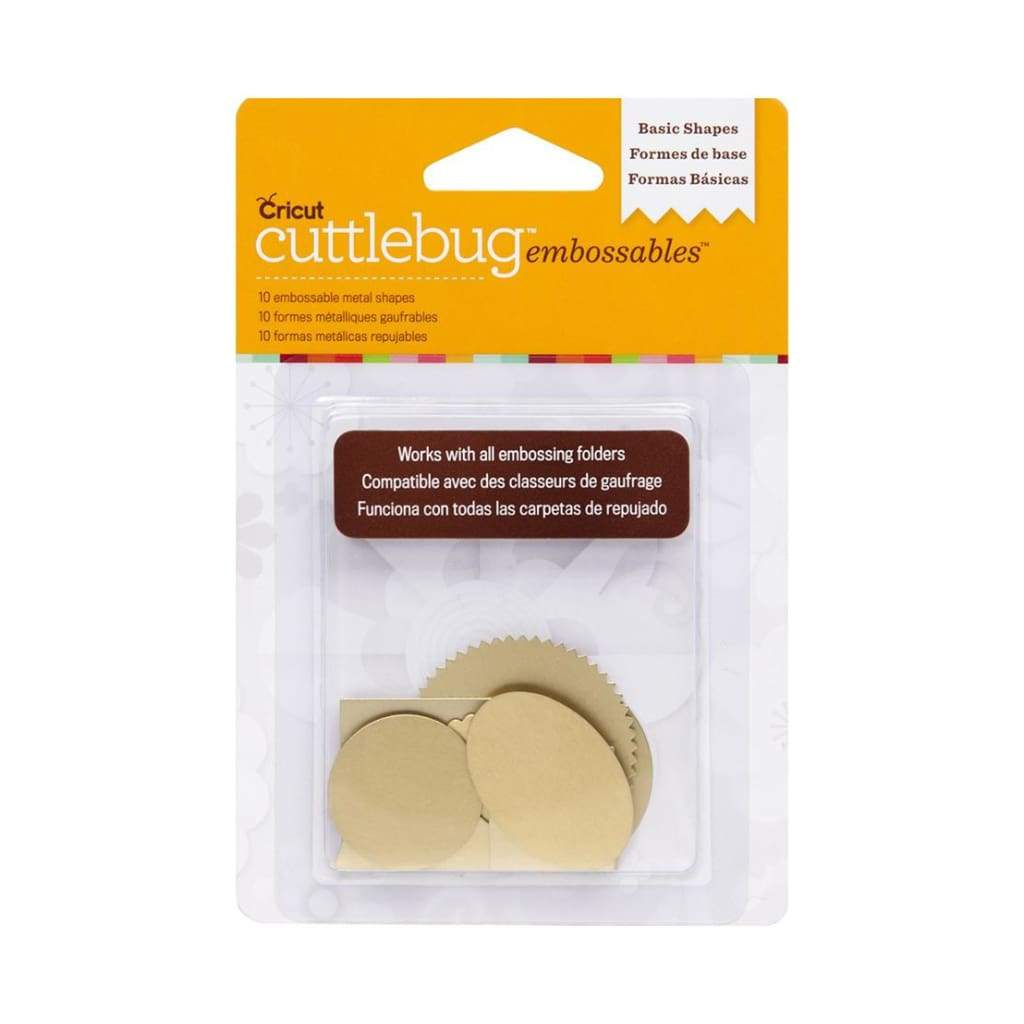 Cuttlebug Embossables Gold Shapes, Basic Shapes