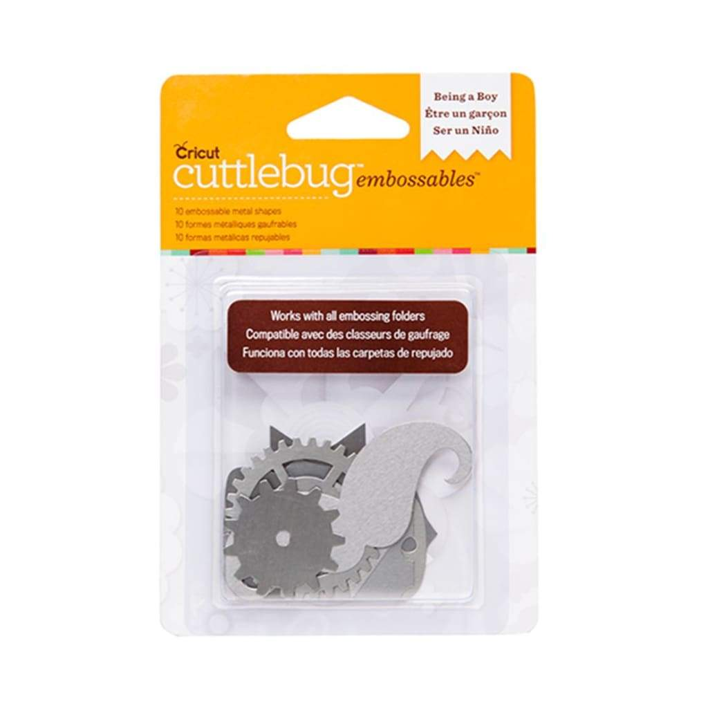 Cuttlebug Embossables Silver Shapes, Being a Boy