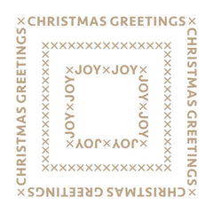 Spellbinders Glimmer Hot Foil Plate - Christmas Essential Glimmer Squares