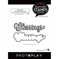 PhotoPlay Say It With Stamps Die Set - Blessings