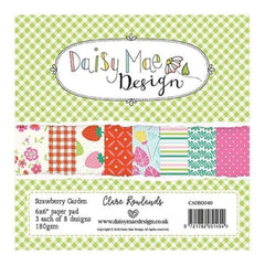 Daisy Mae Design 6 x 6 inch Paper Pack - Strawberry Garden