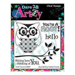 Dare 2B Artzy Clear Stamps 4X4 Sheet You're A Hoot