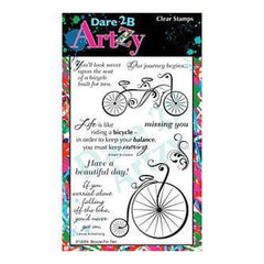 Dare 2B Artzy Clear Stamps 4X6 Sheet Bicycle For Two