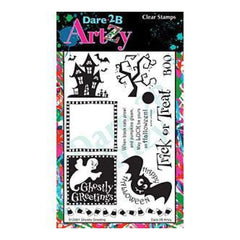 Dare 2B Artzy Clear Stamps 4X6 Sheet Ghostly Greetings