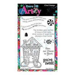 Dare 2B Artzy Clear Stamps 4X6 Sheet Gingerbread House