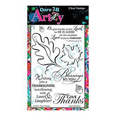 Dare 2B Artzy Clear Stamps 4X6 Sheet Give Thanks