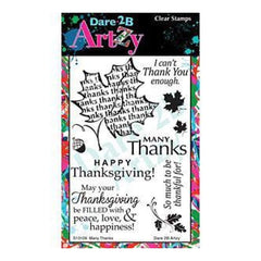 Dare 2B Artzy Clear Stamps 4X6 Sheet Many Thanks