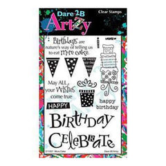 Dare 2B Artzy Clear Stamps 4X6 Sheet More Cake