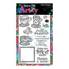 Dare 2B Artzy Clear Stamps 4X6 Sheet Perk Up