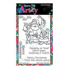 Dare 2B Artzy Clear Stamps 4X6 Sheet Santa's Team