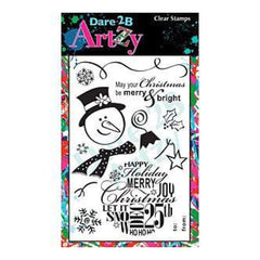Dare 2B Artzy Clear Stamps 4X6 Sheet Snowman