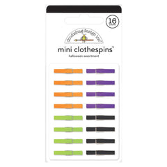 Doodlebug - Mini Clothespins 16 pack - Halloween Assortment