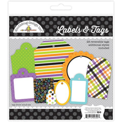 Doodlebug - Labels & Tags 28 pack - Boos & Brews - Candy Carnival