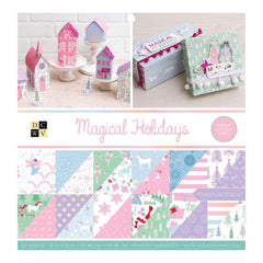 DCWV Double-Sided Cardstock Stack 12 inch X12 inch 32 pack Magical Christmas, 16 Designs/2 Each