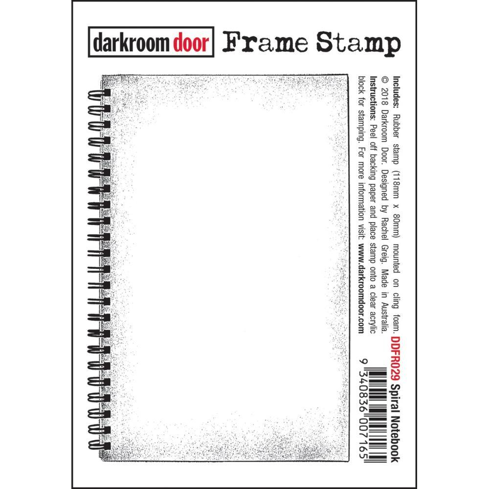 Darkroom Door Frame Cling Stamp 4.6inch X3.1inch - Spiral Notebook