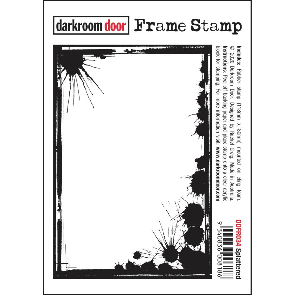 Darkroom Door Frame Cling Stamp 4.6X3 Splattered