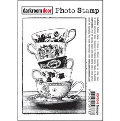 Darkroom Door - Photo Cling Stamp 4.6 inch X3.2 inch  - Teacups