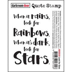 Darkroom Door Quote Cling Stamp 3.3inch X2.3inch - Look For Stars