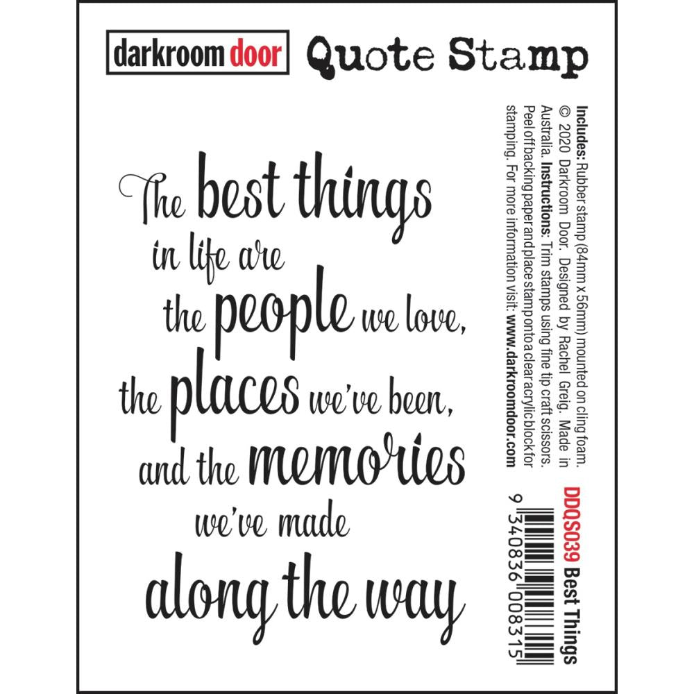 Darkroom Door Quote Cling Stamp 3.3X2.3 Best Things