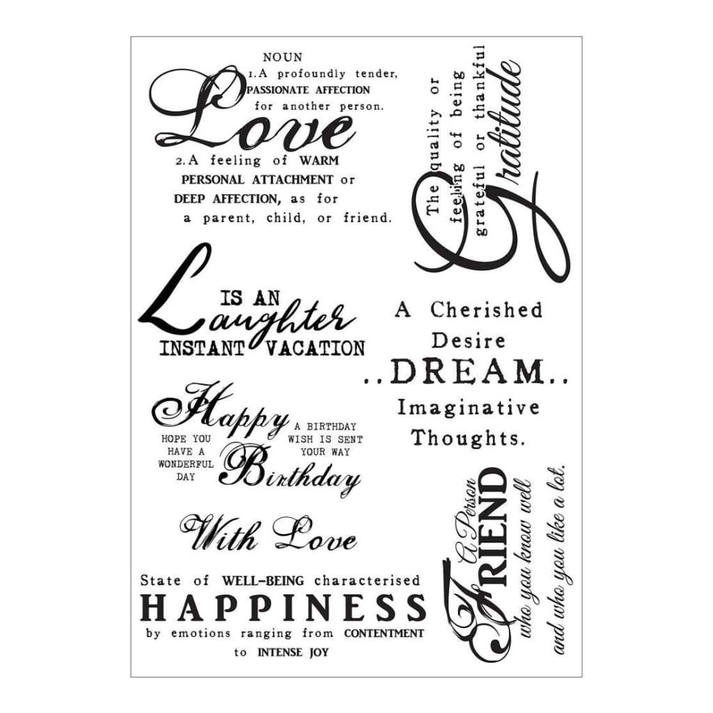 Debbi Moore Life Quotes A5 Stamp Sheet Inspiration 10