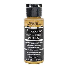 Deco Art - Americana Multi-Surface Metallic 2Oz Yellow Gold