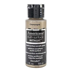 Deco Art - Americana Multi-Surface Metallic Acrylic Paint 2Oz - Champagne