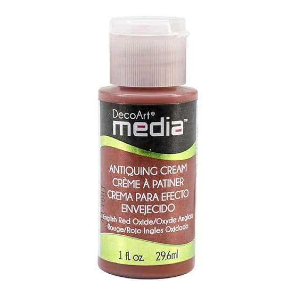 Deco Art - Media Antiquing Cream 1oz - English Red Oxide