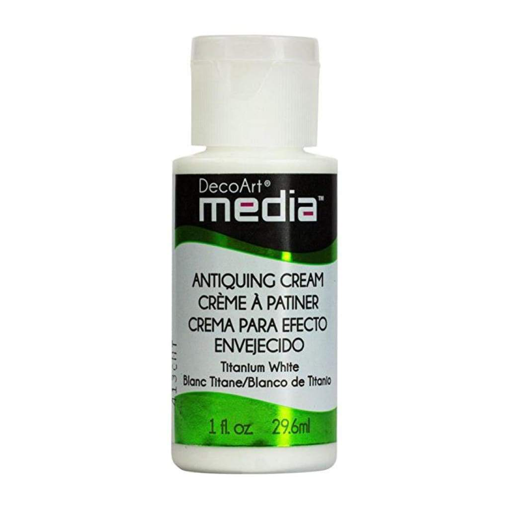 Deco Art - Media Antiquing Cream 1oz - Titanium White