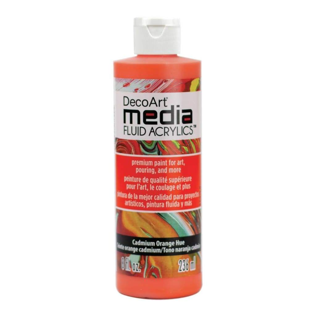 Deco Art - Media Fluid Acrylic Paint 8oz - Cadmium Orange Hue