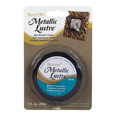 Deco Art - Metallic Lustre Wax Finish 1Oz - Brilliant Turquoise