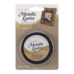 Deco Art - Metallic Lustre Wax Finish 1Oz - Champagne Ice