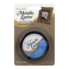 Deco Art - Metallic Lustre Wax Finish 1Oz - Cosmic Blue