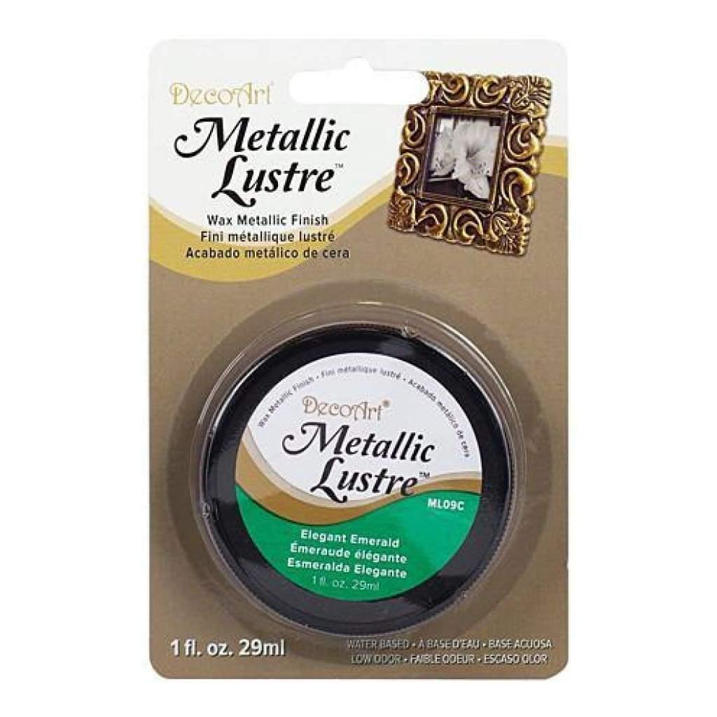 Deco Art - Metallic Lustre Wax Finish 1Oz - Elegant Emerald